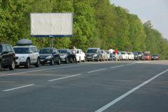 Колонна автомобилей Skoda